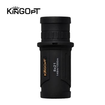 KINGOPT 8x21 Wide-angle Monocular Telescope Nitrogen Waterproof Portable Ultralight HD Spyglass Prism BK7 Kids Brinquedos Scopes