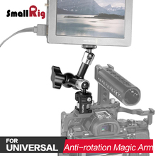 SmallRig DSLR Camera Rig Articulating Magic Arm For Monitor Viewfinder Support with Anti-rotation Magic Arm Adapter 2026 e image hot shoe articulating photography camera monitor magic arm clamp mount stainless steel dslr rig light movie kit