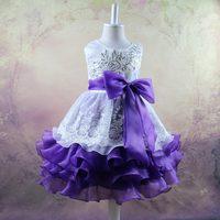 Letnie Dziewczyny Księżniczka Sukienki Organza Cekiny Bowknot Kwiat Haft Ślub Urodziny Dzieci Dziewczyna Sukienka Druhna