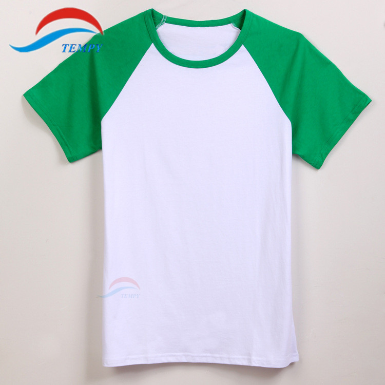 Aliexpress.com : Buy Teen Boys Blue sleeve and White blank T Shirt ...