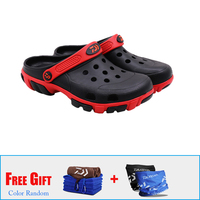 Daiwa Men Summer Beach Sandals Outdoor Shoes Garden Clogs Lightweight Fishing Shoes Breathable Sandals Quick Dry Water Shoes