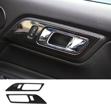 lsrtw2017 abs car door handle trims for ford mustang 2015 2016 2017 2018 2019 6th generation