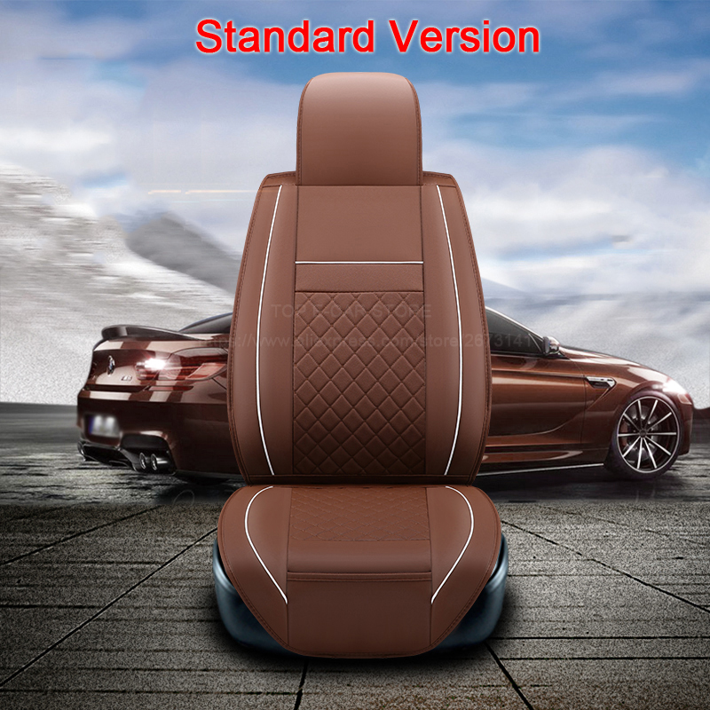 (2 front) High quality leather universal car seat cushion seat Covers for Daewoo Nexia Tosca Kalos Evanda auto seat protect