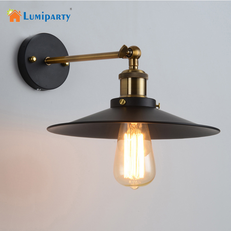 Lumiparty Vintage Wall Led Lamp Loft Antique Swing Long Arm lights Classic Sconce for Home Indoor Bedside Up Down Bed Reading loft nordic vintage wall lamp classic black art sconce decorative light adjustable arandela led swing 2 arm wall lights reading