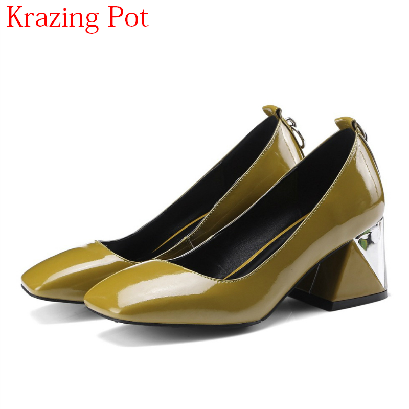 2018 Fashion Office Lady Large Size Mature Spring Shoes Brand Women Pumps High Heels Slip on Mental Shallow Wedding Shoes L90 xiaying smile woman pumps british shoes women thin heels style spring autumn fashion office lady slip on shallow women shoes
