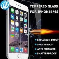 IPhone 4 için toptan 100 piece film Temperli glas s 5 6 6 s 7 plus cam koruyucu film ekran koruyucu koruyucu