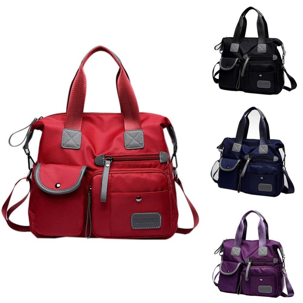 Waterproof Women Nylon Oxford Handbag Shoulder Bag Large Capacity Fashion Style Crossbody Casual Cosmetic Bag Female Bolsa