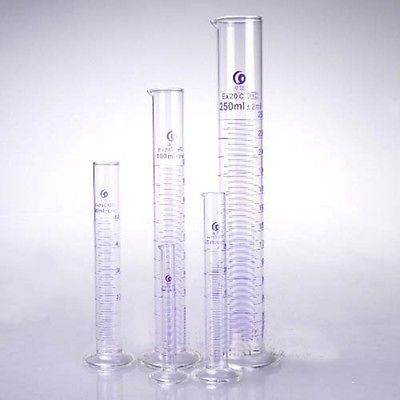 25ml Graduated Labrotary Glass Liquid Mearsuring Cylinder With Spout