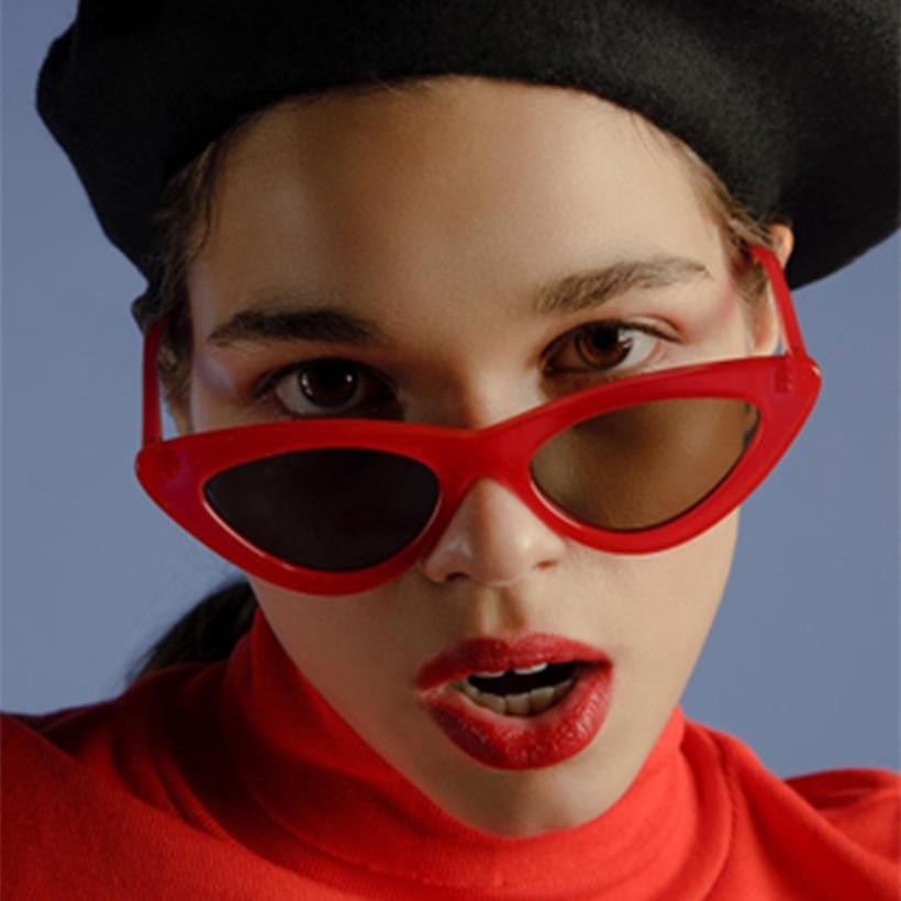 5dd313a747 Aliexpress.com   Buy NYWOOH Vintage Sunglasses Women Cat Eye Luxury Brand  Designer Small Triangle Sun Glasses Ladies Sunglass Black Eyewear UV400  from ...