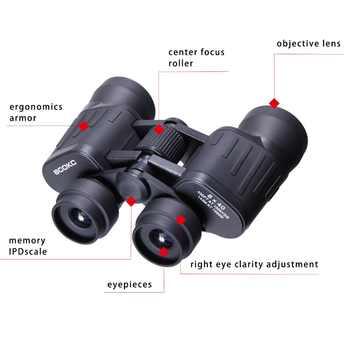 Wide Angle Powerful binoculars 20x50 Zoom Long Range 5000m Professional Folding Telescope