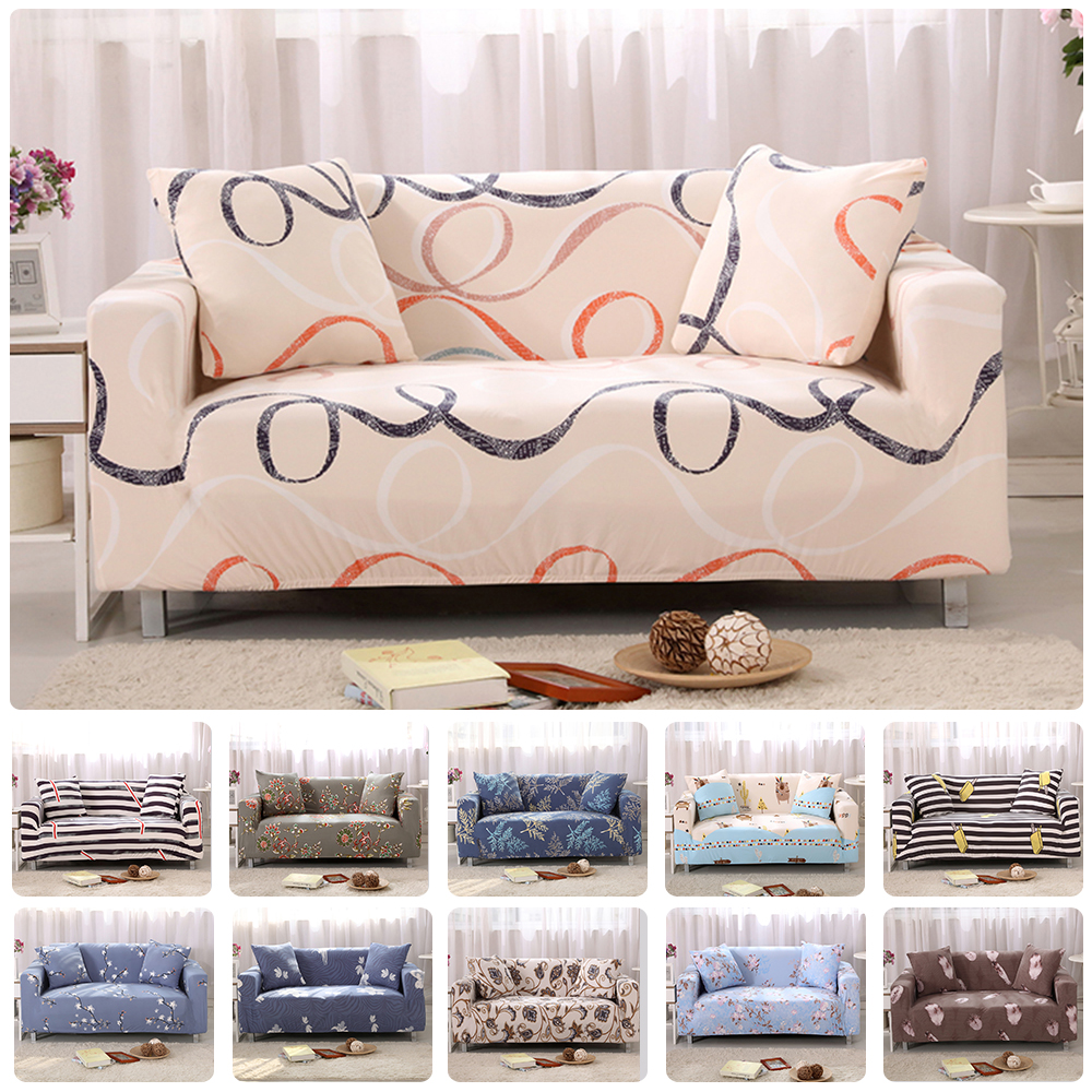 House Queen Modern 1/2/3/4 Seat Printed Flexible Stretch Sofa Cover