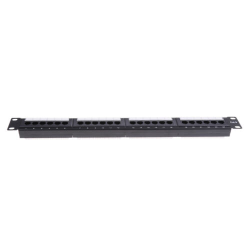 24Port 19inch Cat6 RJ45 T568A T568B Data Network Rack Mount Patch Panel Frame