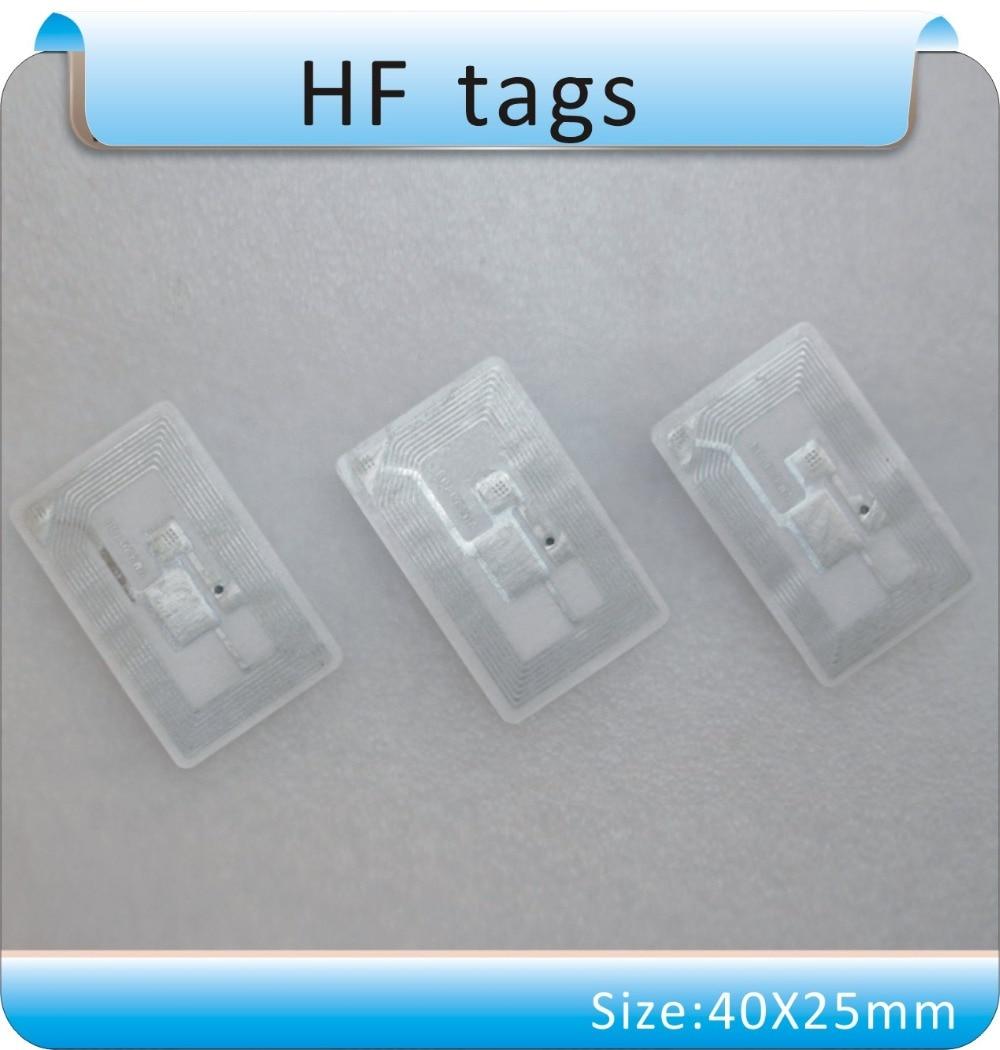 Купить с кэшбэком Free shipping 100pcs 13.56 MHz ICODE-2 / HF tags, books management tag/stickers RFDI tgas  / ISO -15693