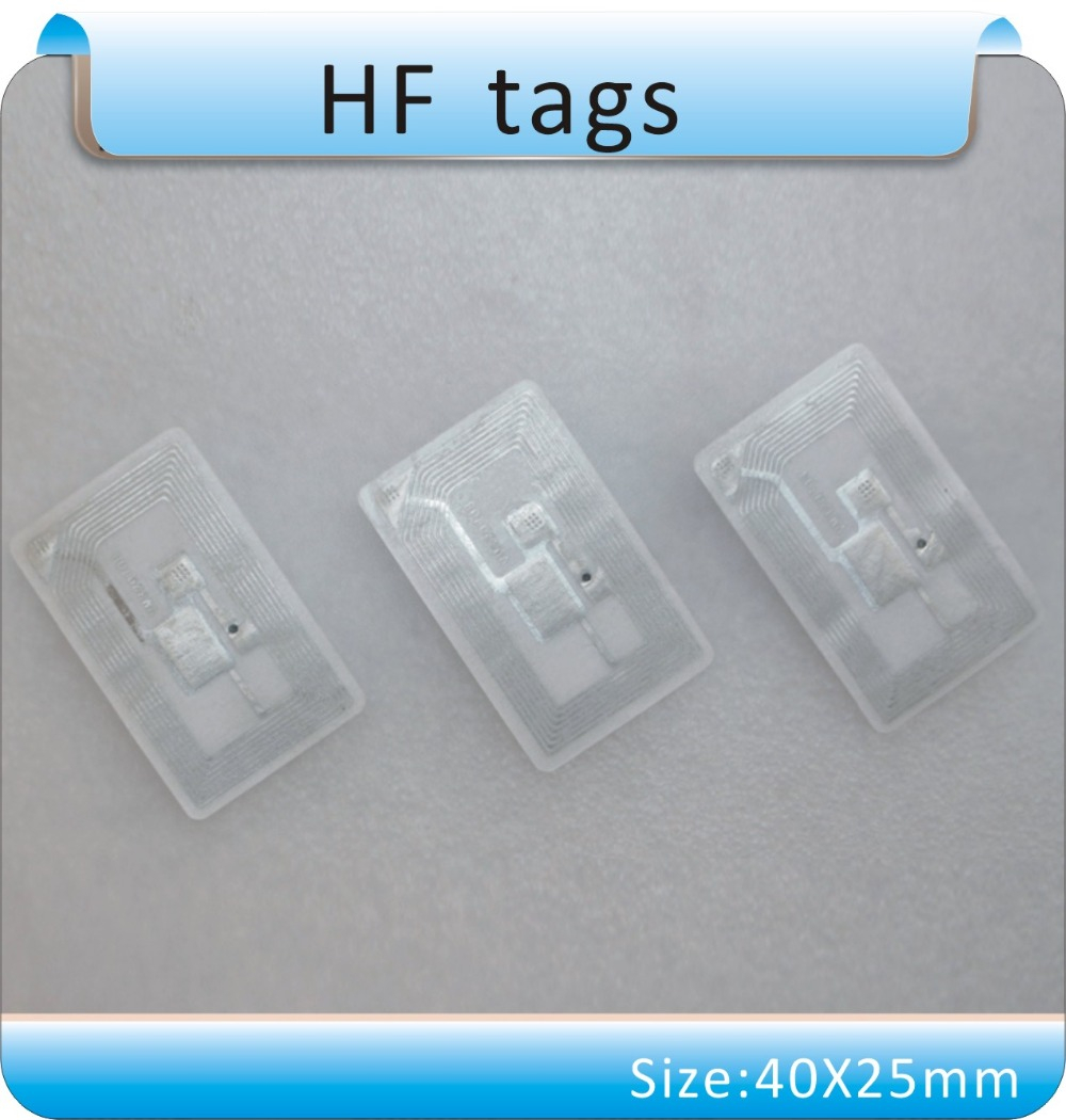 Free shipping 100pcs 13 56 MHz ICODE 2 HF tags books management tag stickers RFDI tgas ISO 15693 in IC ID Card from Security Protection
