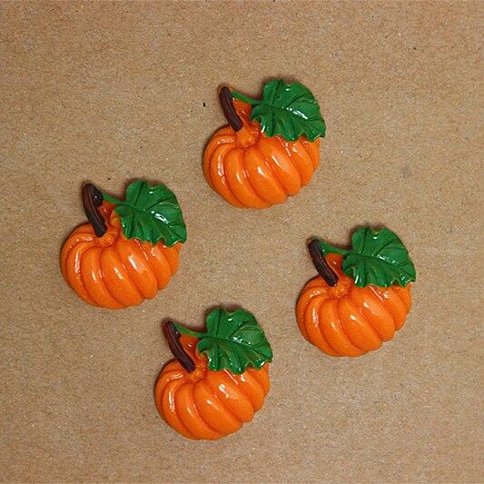 US $10 0 |Bulk lot 50pcs 21*22mm cute pumpkin resin flatback cabochon for  DIY craft art scrapbooking,RF2024-in Figurines & Miniatures from Home &