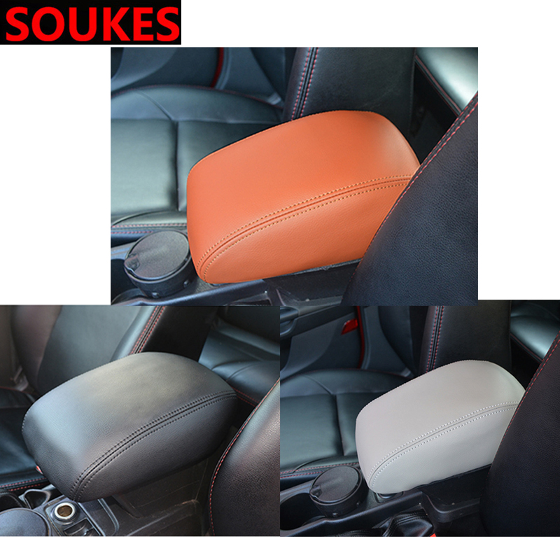 Genuine Leather Car Center Elastic Armrest Cover For Chevrolet Cruze Aveo Captiva Lacetti TRAX Sail Epica Lada Granta Kalina