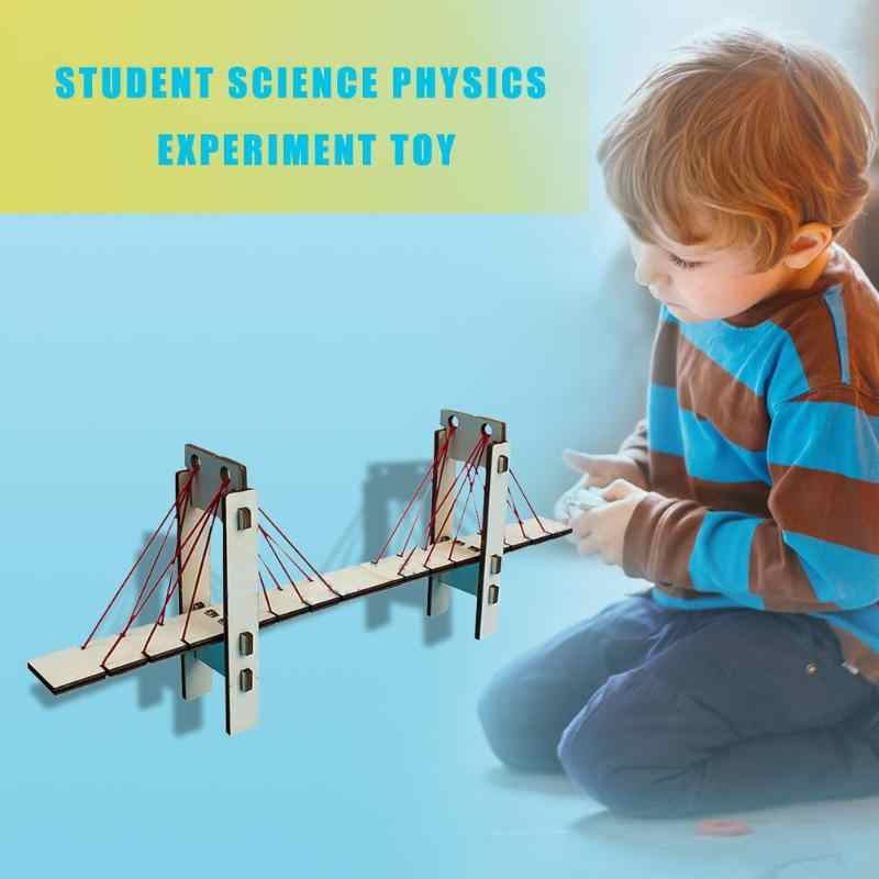 DIY Wooden Stayed Bridges Student Kids Science Physics Experiment Toy Gift Baby Education Toys Deloping Exploring Ability