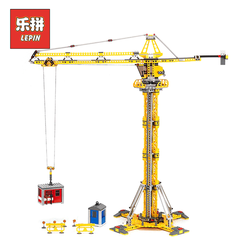 цена на Lepin 02069 City Series the Building Crane Set 7905 Building Blocks Bricks City Lifting Machine Children Toys Gift city Lepin