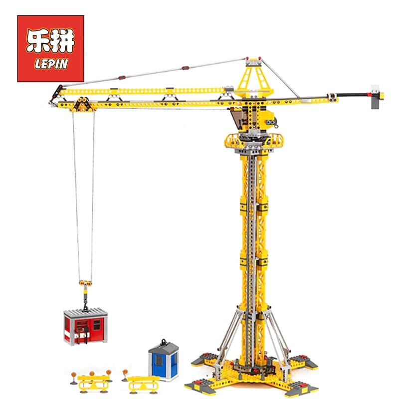 Lepin 02069 City Series the Building Crane Set 7905 bloques de construcción ladrillos ciudad máquina de elevación niños juguetes regalo ciudad Lepin