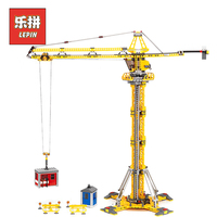 Lepin 02069 City Series The Building Crane Set 7905 Building Blocks Bricks City Lifting Machine Children