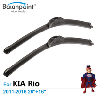 Wiper Blade Size 26 16 For KIA Rio Saloon 2011 2016 Set Of 2 Cost Effective