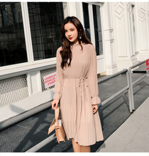 Two layers chiffon pleated dress