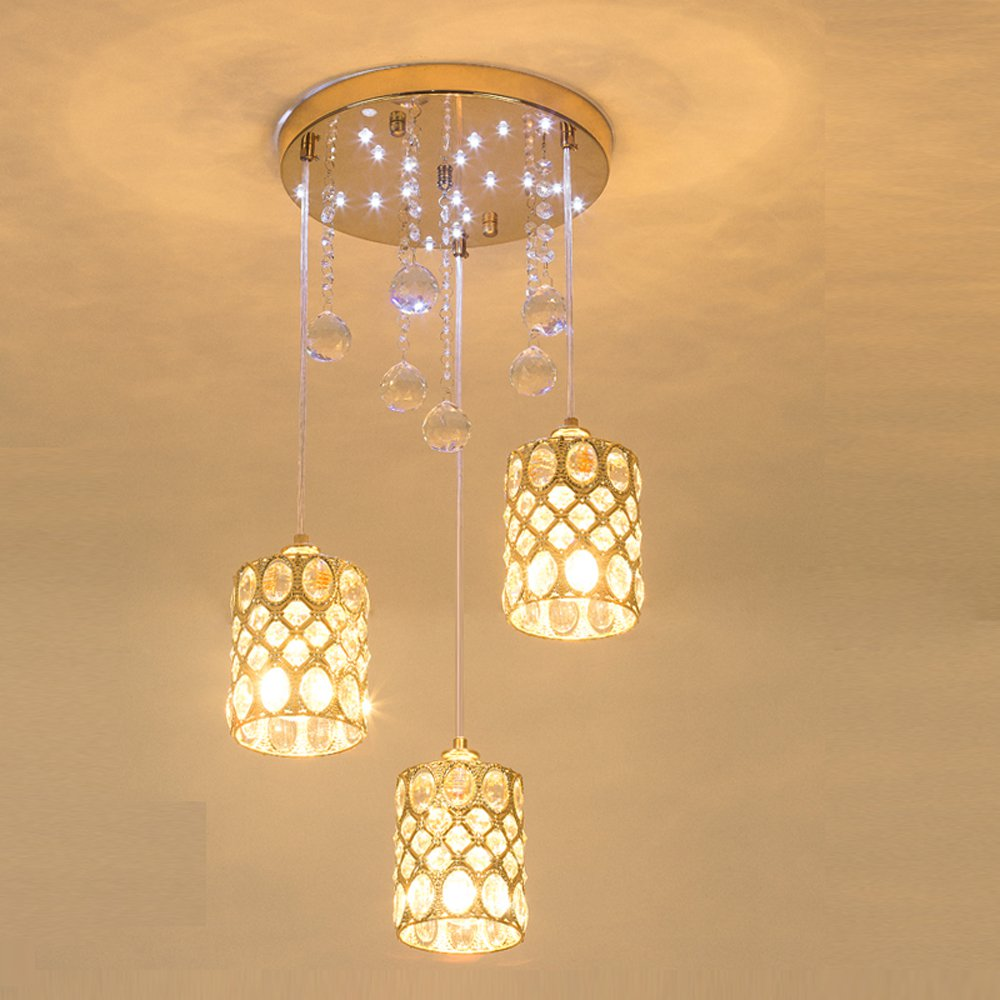 Modern Crystal Cup Dining Room Pendant Lights Fashion Restaurant Golden Pendant Lamp Luxury Round Pendant lamp FixturesModern Crystal Cup Dining Room Pendant Lights Fashion Restaurant Golden Pendant Lamp Luxury Round Pendant lamp Fixtures