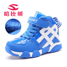HOBIBEAR Backetball Shoes Kids Waterproof Winter Sport Shoes Boys Plush Nonslip Girls Trainers Child Ankel Protection AAAQuality
