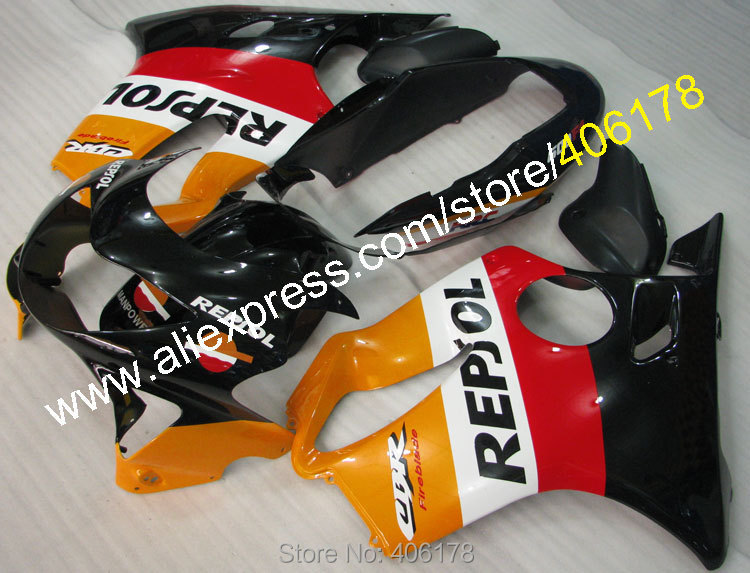 Hot Sales,Cheap Fairings For Honda CBR600RR 99 00 CBR600 1999 2000 F4 Repsol motorcycle parts For Sale (Injection molding)