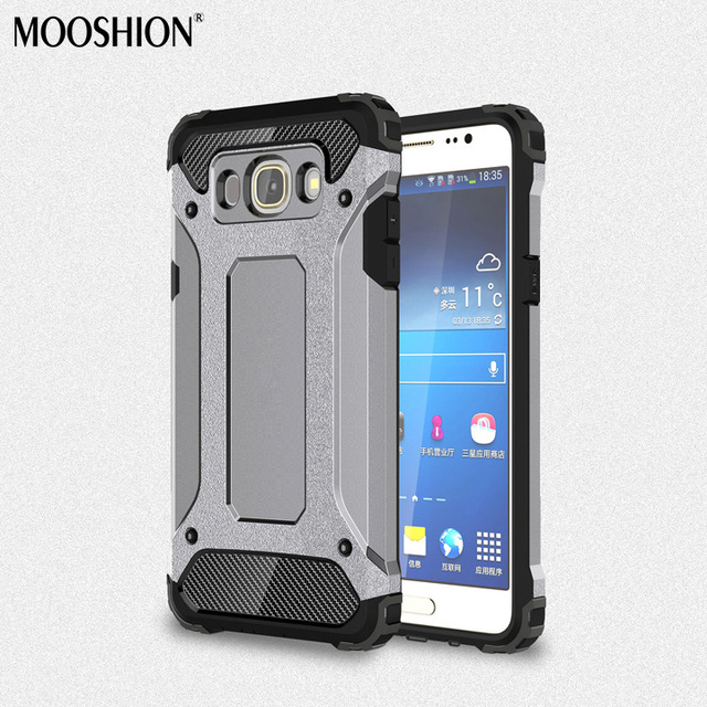 more photos 53250 f2f27 US $3.4 7% OFF|MOOSHION Shockproof cases For Samsung Galaxy J7 2016 case  Dual Layer Hybrid Hard Back Case For Samsung j7 2016 Cover Funda-in Fitted  ...