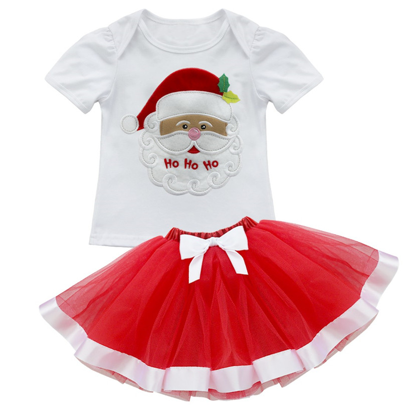 b82ddbe5c979 iEFiEL Kids Girls Christmas Santa Claus Tops with Bowknot Layers Tutu Skirt  Outfits Xmas Gift Sets for Festival Party Costumes-in Clothing Sets from  Mother ...