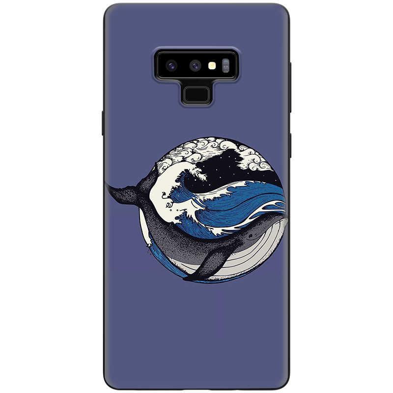 Lavaza المحيط الحوت أسماك القرش الأسماك لينة TPU حقيبة لهاتف سامسونج ملاحظة A3 A5 A6 A7 A8 A9 8 9 J6 A10s A20s a30s A40s A50s 10 A70 زائد