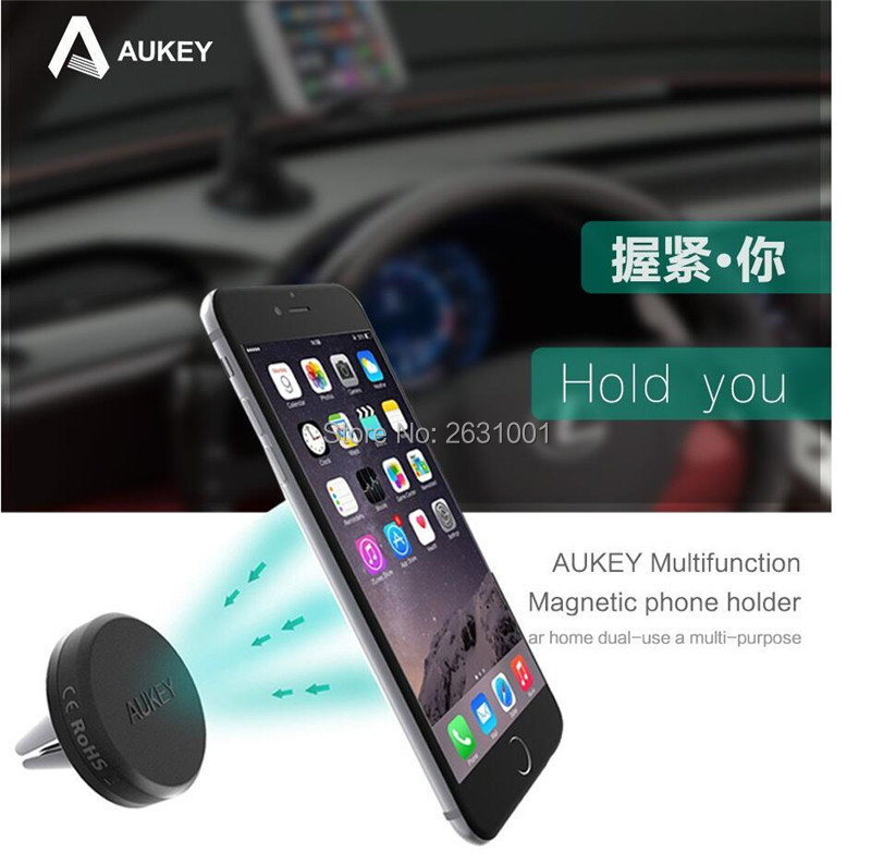 AUKEY USB car magnetic air vent charger 1