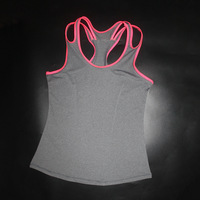 Spring Summer New Tank Tops Women Sleeveless Round Neck Quick Drying Vest Sexy Sportswear T Shirt