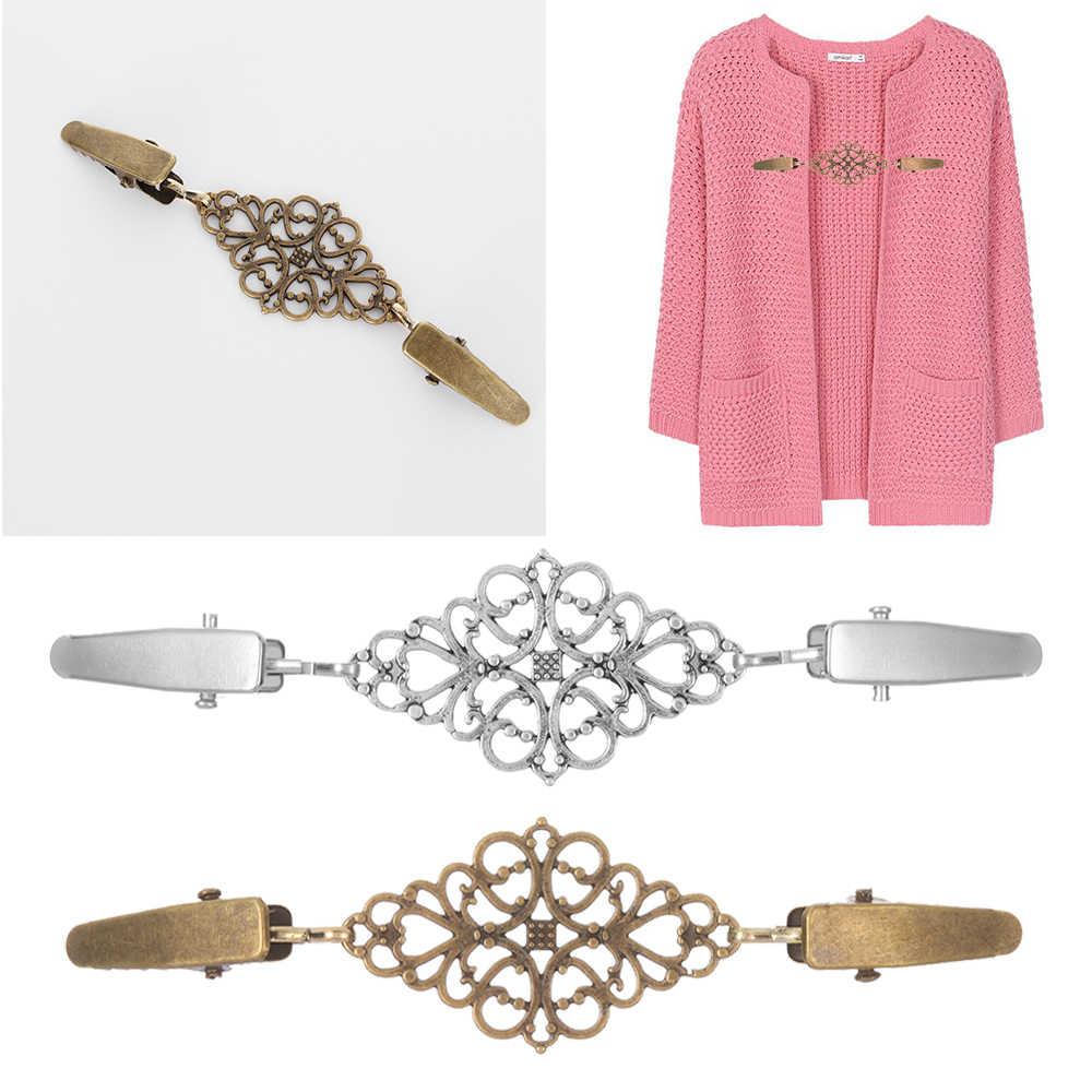 Fashion Musim Dingin Syal Gesper Pesona Aksesoris Wanita Cardigan Sweater Blus Pin Selendang Bros Klip Kemeja Kerah Retro Bebek Klip