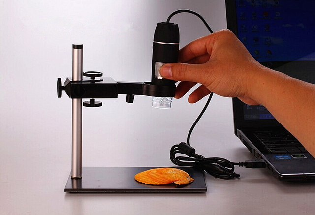 PENFU Magnifiers 1000X 8 LEDs USB Digital Continuous Zoom Microscope Magnifier with Adjustable Aluminium Alloy Stand for Reading