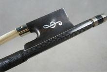 1 Stück Starke Plaid Carbonfaser Geigenbogen 4/4 Gute Balance Nataul weiß Rosshaar Ebenholz Frosch Nickel Silber Teile