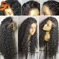 8A Llena Del Cordón Pelucas de Pelo Humano Para Las Mujeres Negras Virgen Del Frente Del Cordón peluca Brasileña Pelucas Llenas Del Cordón Con El Pelo Del Bebé Rizado Pelucas Delanteras Del Cordón
