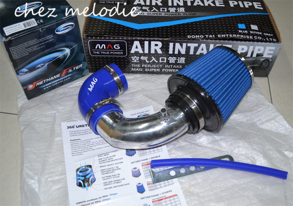 High quality AIR INTAKE pipe kit+1 Air FILTER for Mitsubishi old Lancer V3/2013 Lancer 1.6, pls contact me for other car models epman universal 3 aluminium air filter turbo intake intercooler piping cold pipe ep af1022 af