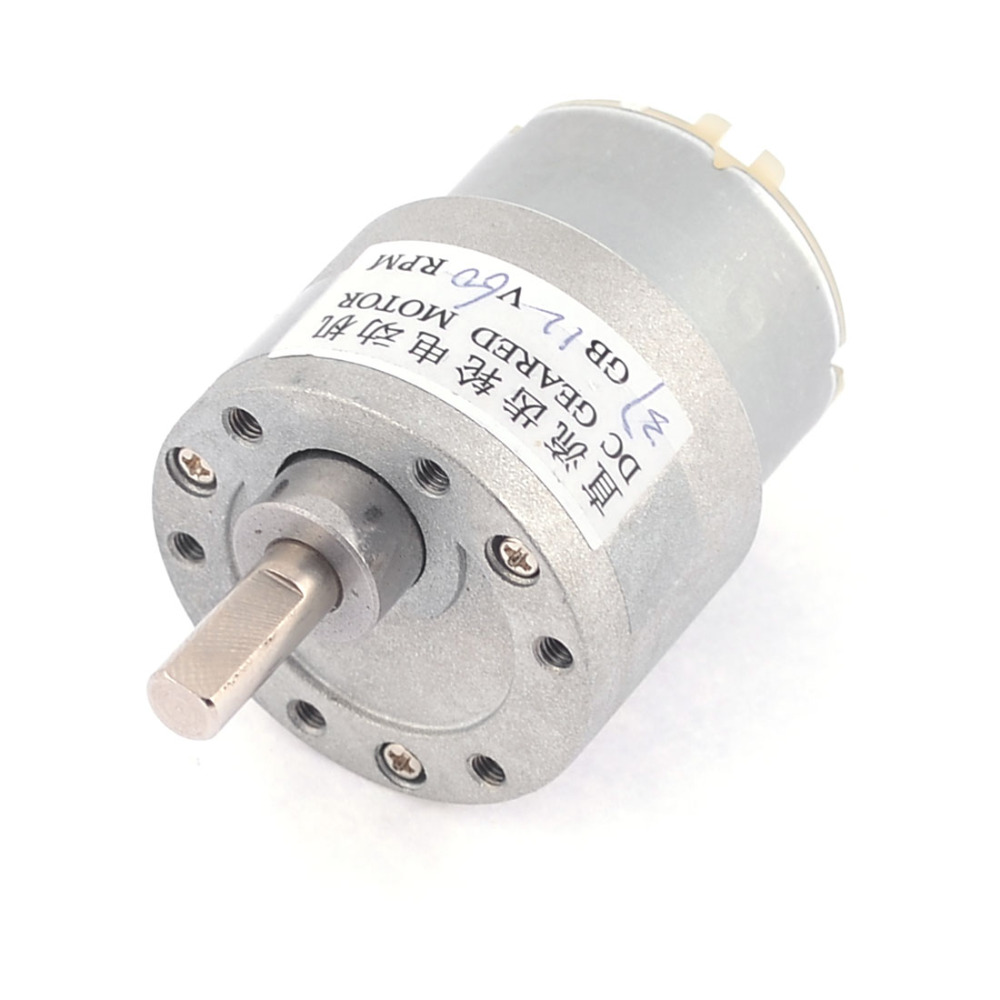 Uxcell Newest 1 Pcs 60RPM Permanent Magnetism 6mm Shaft Dia DC 12V Gearbox Geared Motor shaft diameter 6mm x 15mm dc 12v 20 rpm speed 6mm dia shaft magnetic gearbox electric geared motor 37mm x 86mm