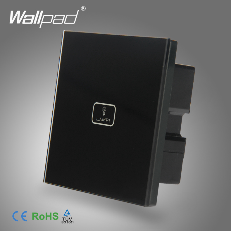 Us 16 55 20 Off 2019 Hot Safe Wallpad Black Temepred Switch 1 Gang Touch Screen Sensor Smart Light In Switches From Lights Lighting On