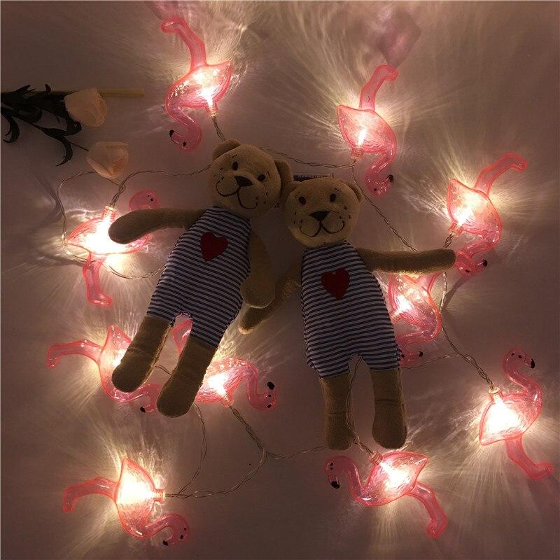 Halloween Fotowand.Us 5 98 Hot Flamingo Led Fairy Light String Meisje Slaapkamer Romantische Fotowand Holiday Party Kerstboom Halloween Bruiloft Decoratie In Hot