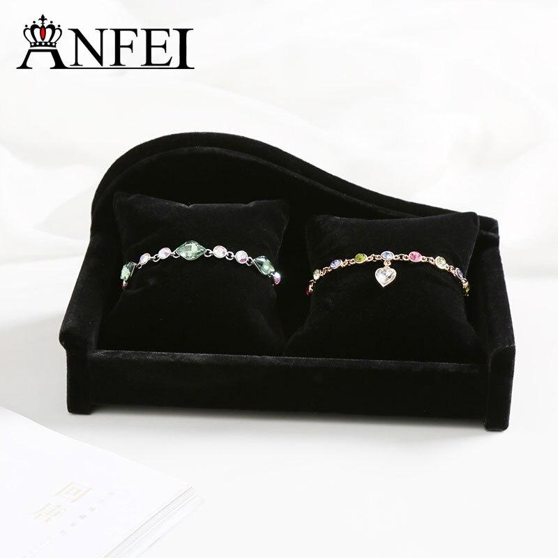 ANFEI New Arrival Fashion Luxury Watch Display 2 Slot Wristwatch Wristband Bracelet Gift Jewelry boxes Travel Carry Case GA3214