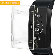 For Fitbit Charge 3 Case Soft TPU Silicone Protective Clear Case Cover Shell for Fitbit Charge 3 Band Smart Watch Accessories
