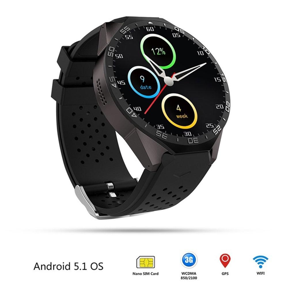 Модные 3G GPS WI FI Смарт часы погода Live сердечного ритма Поддержка сим карты 1.39 дюймов 512 МБ + 4 ГБ bluetooth 4.0 HD Дисплей