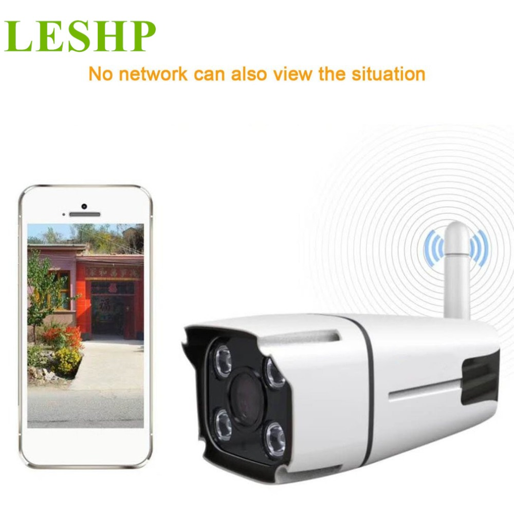 LESHP Full-color Night Vision IP Camera 960/1080P Wireless Surveillance Camera Waterproof IP67 Home Security APP Remote Monitor leshp wireless surveillance camera waterproof ip67 960p full color night vision ip camera home security via app remote control