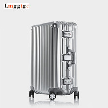 "Aluminum frame+PC+ABS Suitcase,20""24""26""29""inch High-quality Anticollision Rolling Luggage,TSA combination Lock travel Box"