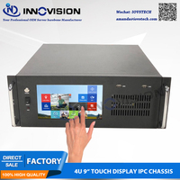 Compact 9TFT Touch display 4U all in one computer case/4U rack server chassis