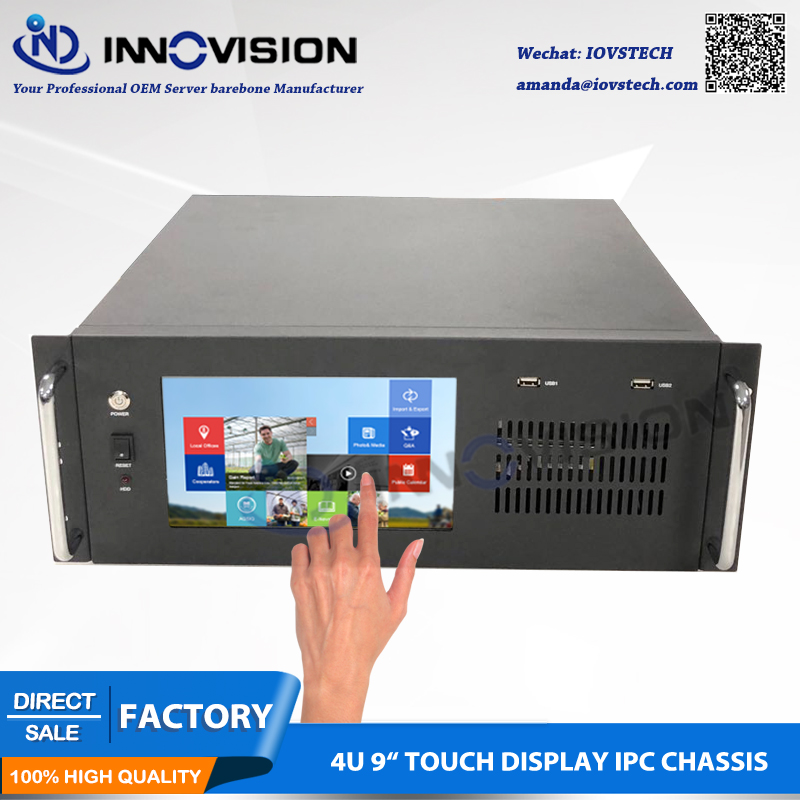 Compact 9TFT Touch display 4U all-in-one computer case/4U rack server chassis 4u416 4u 43650 server case 4u internet cafe server case 4u long chassis
