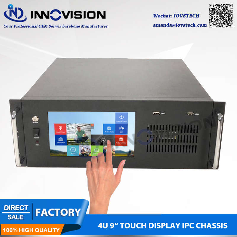 "Compact 9 ""TFT Touch display 4U all-in-one computer case/4U rack server chassis"